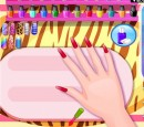 بازی دخترانه لاک زدن ناخن