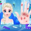 بازی آنلاین دخترانه دکتری فلش پزشکی السا فروزن درمان دست