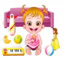 بازی بچه داری در زمان تفریح هازل کودک
