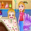 بازی حمام بردن بچه هازل