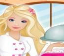 Play Barbie cooking food retail management