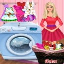 Play Barbie clothes wash
