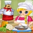 کلاس آشپزی دختر زیبا