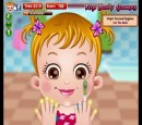 Pretty little girl kept online game