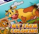 بازی کودکانه رنگ آمیزی مزرعه حیوانات