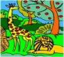 بازی بچه گانه رنگ آمیزی جنگل