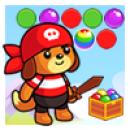 بازی پرتاب حباب رنگی خرس کوچولو