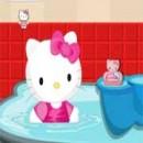 بازی تمیز کردن حمام سلام کیتی