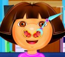 Chirurgie du nez jeu (action Noire