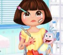 Play Dora's hand wound treatment