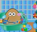 بازی حمام کردن و مراقبت پو POU