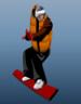 بازی آنلاین مرد حرفه ای اسکی باز روی برف