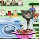 شستن عروسک های گربه سخنگه