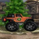 Online Flash driving game with desert Jeep